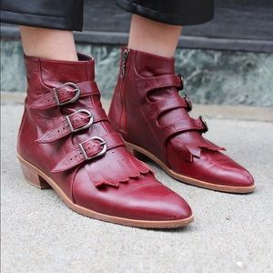 Modern Vice Red Oxblood Jett Boot Size EUR 36 US 6